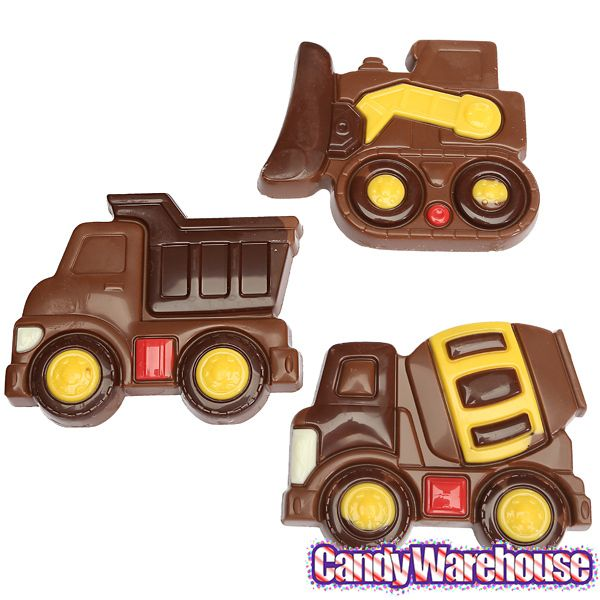Tuff Trucks Milk Chocolate Construction Trucks: 18-Piece Box
