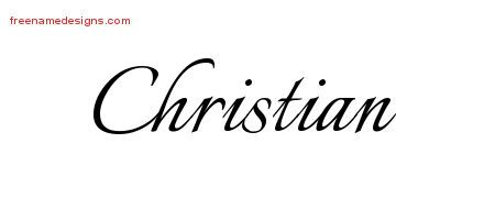 Christian Calligraphic Name Tattoo Designs Free Lettering
