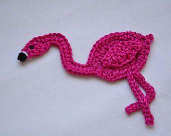 Häkel Anleitung Flamingo Aufnäher Patch Häkeln Stricken Für