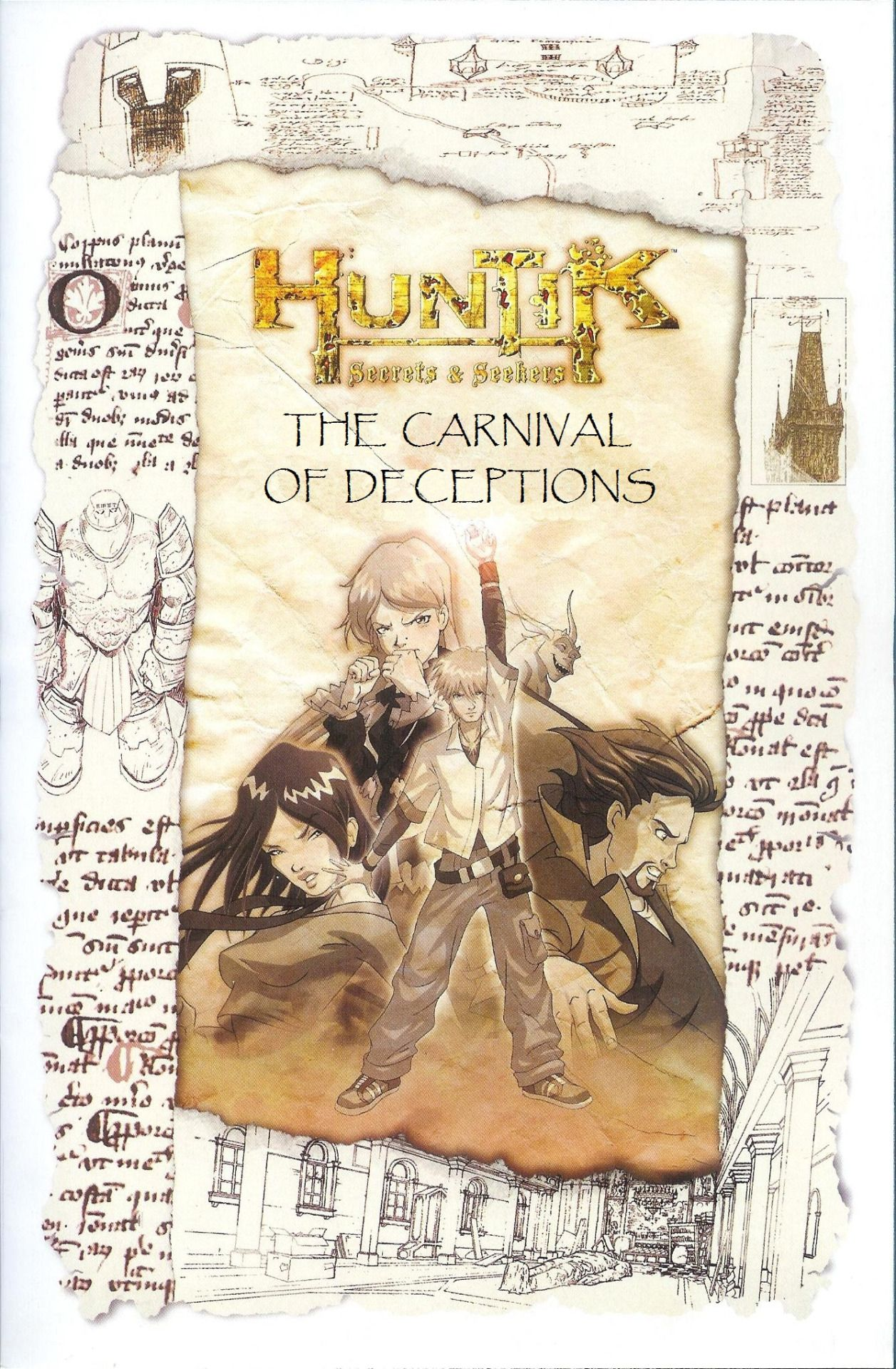 How To Do A Cover Page Title Page Of Huntik Comic #5 The Carnival Of Deceptionsplease .