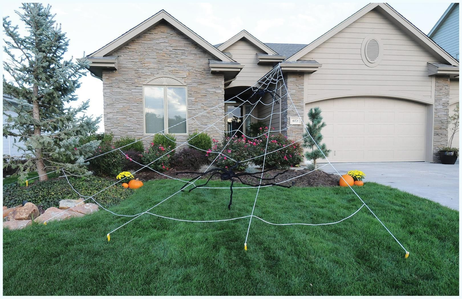 PartyBell - Instant Mega Yard Web #halloween #outdoordecoration - Scary Halloween Yard Decorating Ideas