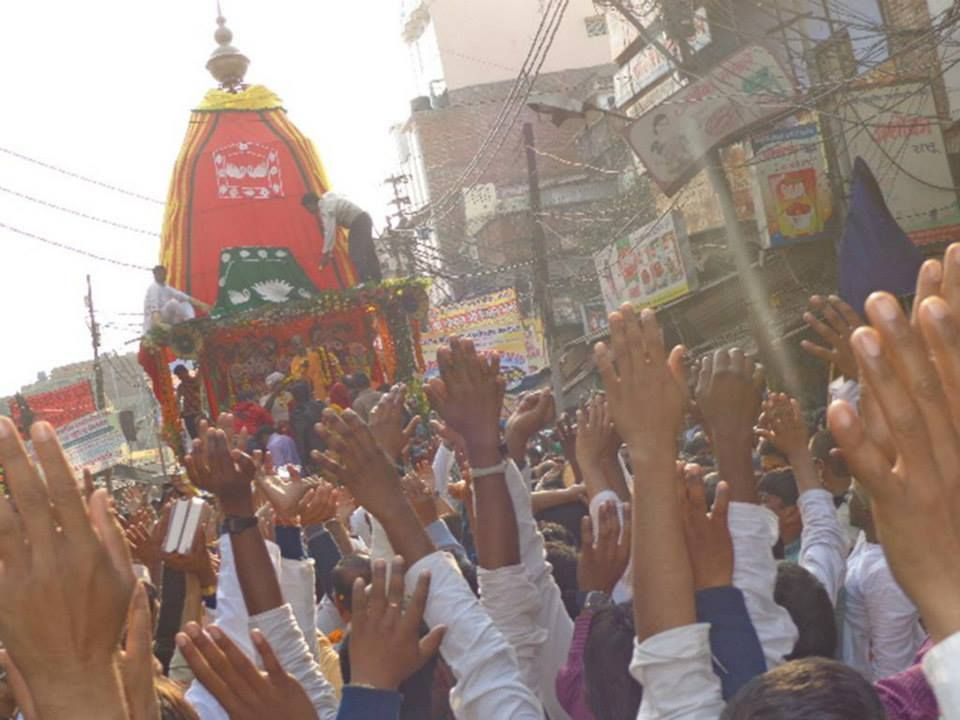 Jagannath Rath yatra by ISKCON kanpur on 4th feb (Album 40 photos)