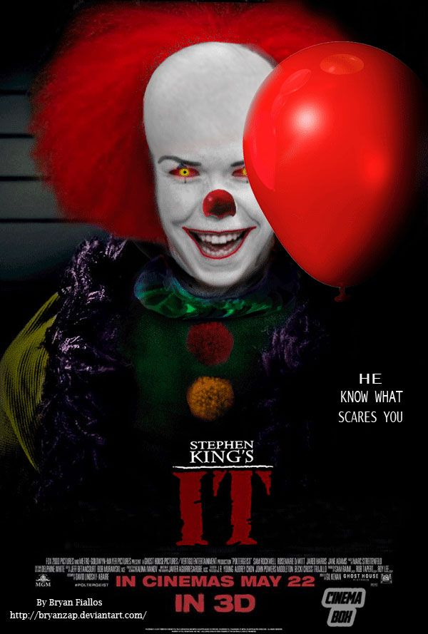 c005096f0b0f IT Remake Fan-Poster Will Poulter as Pennywise by Bryanzap on DeviantArt