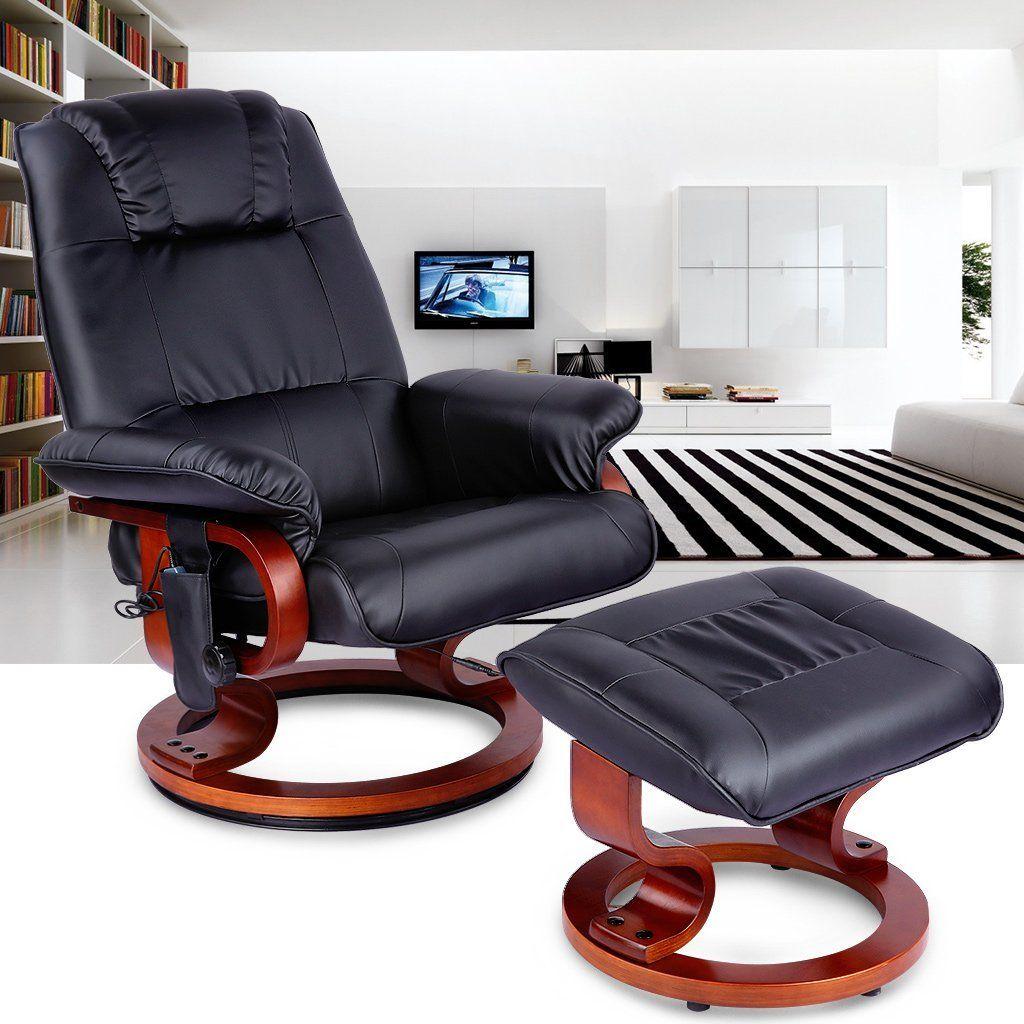 LANGRIA Massage Chassie Fauteuil Cuir Chaise Longue se Faire Masser Automatique Sofa Divan Ottoman Relaxer  sc 1 st  Pinterest : chaise massage - Sectionals, Sofas & Couches