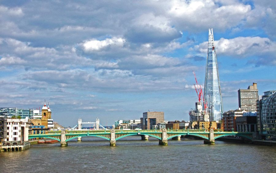 The Shard from the Millennium Bridge  by Fidel Angueira, via 500px  http://500px.com/FidelAngueira