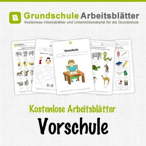 Kostenlose Arbeitsblätter Vorschule | schulvorbereitung | Pinterest ...
