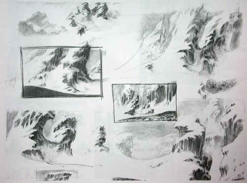 Mulan Snow Capped Mountains In 2019 Disney Concept Art