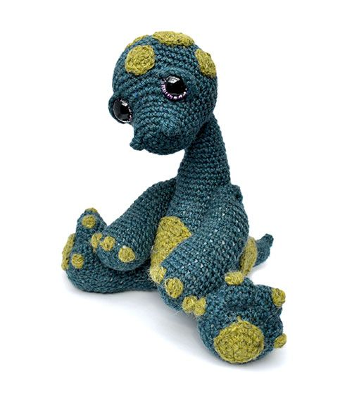 Monti the diplodocus amigurumi pattern by Patchwork Moose (Kate E ...