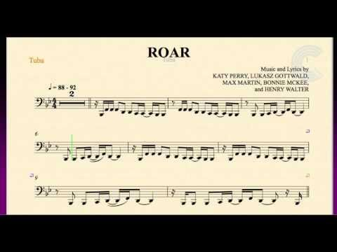 Roar - Katy Perry - Tuba Sheet Music, Chords, and Vocals | Tuba