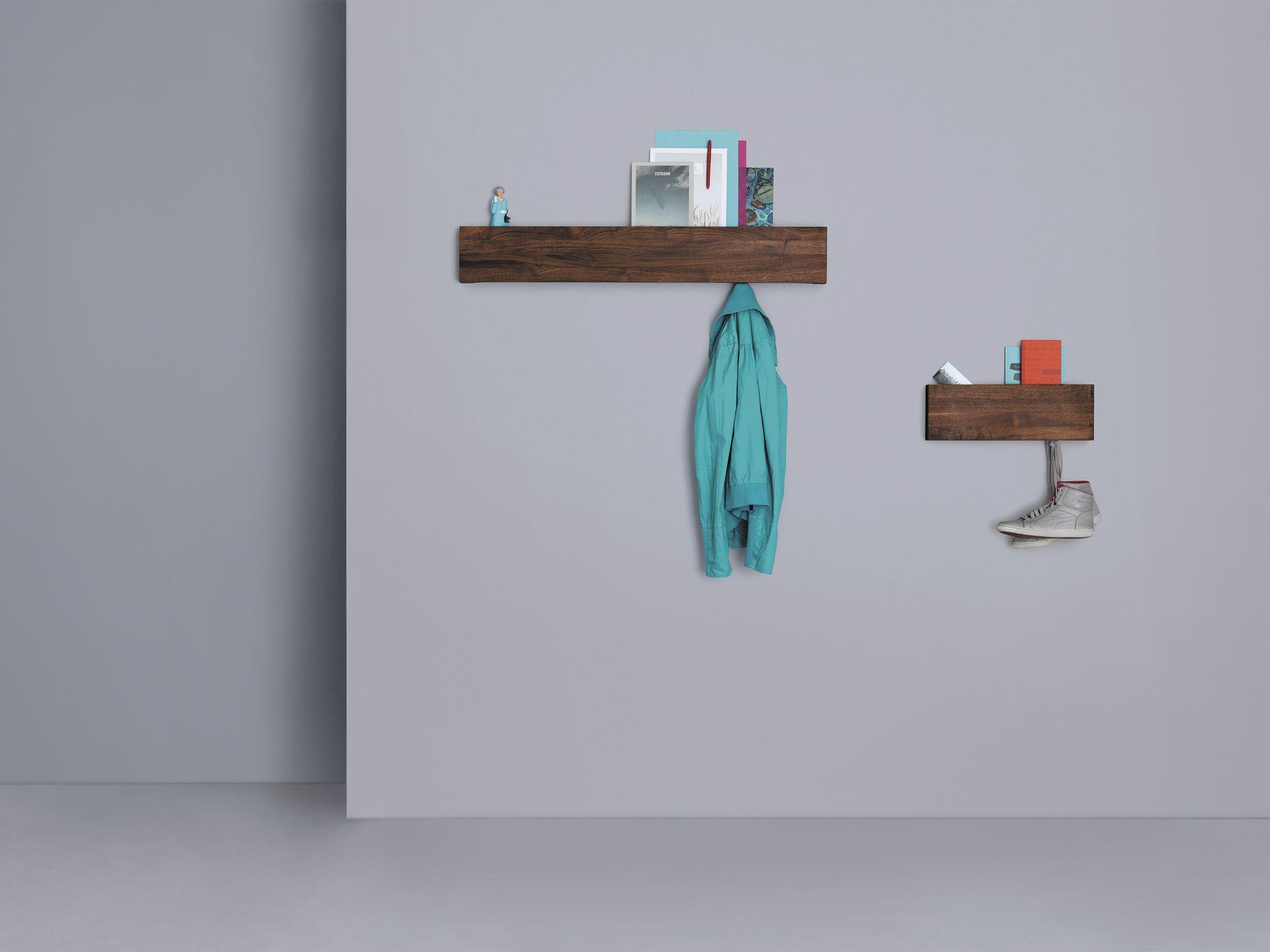 Perchero de pared moderno de madera para uso residencial