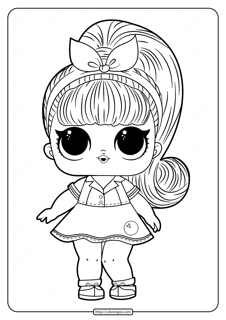 Printable Lol Doll Coloring Pages For Free High Quality Free Printable Pdf Coloring Drawin Dinosaur Coloring Pages Cartoon Coloring Pages Cute Coloring Pages