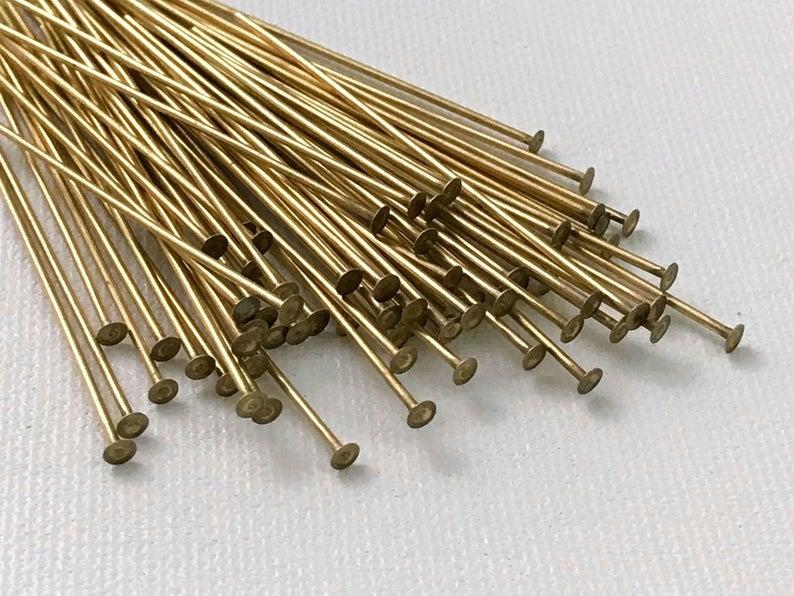 Antiqued Brass headpin 2 inch Long 20 Gauge 250 pcs