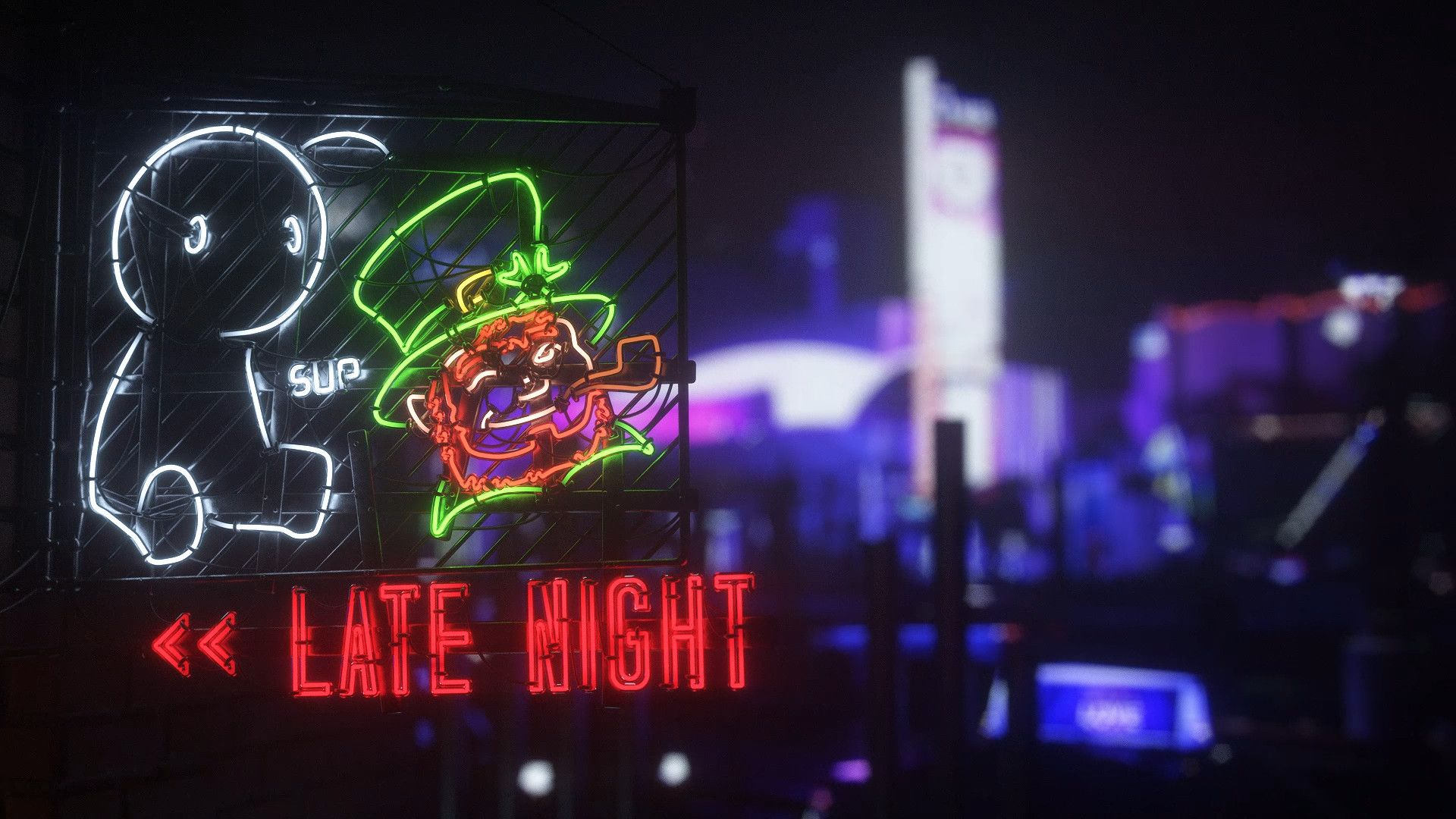 Late Night With Neon Idle Animation Wallpaper Engine Free Teknoloji