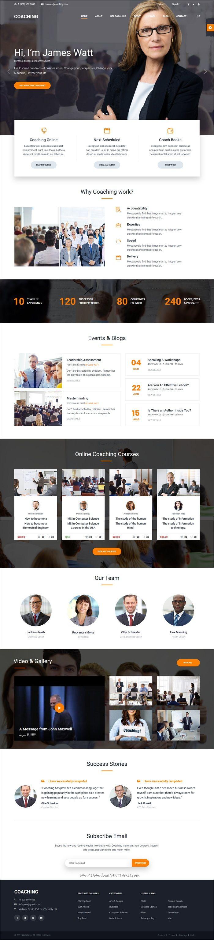 Coaching | Speaker & Life Coach, Health Coach HTML Templates | Coach ...