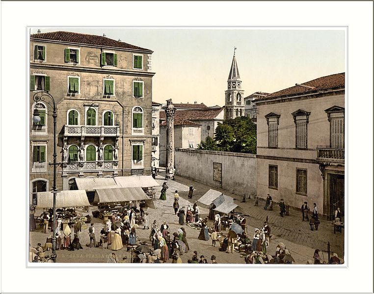 File Zara Erbe Square Dalmatia Austro Hungary Jpg Places In Europe Zadar Croatia