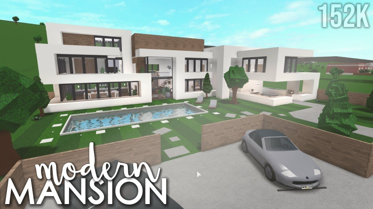 Small Plot Modern Mansion Bloxburg House Build In 2020 Building A House Luxury House Floor Plans Home Building Design