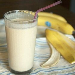 Peanut Butter Banana Smoothie  2 smoothies-   1 cup almond milk  3 bananas  1/2-1 cup crushed ice  3 rounded Tbsp creamy peanut butter or almond butter