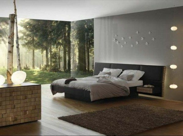 Chambre a coucher homme nature
