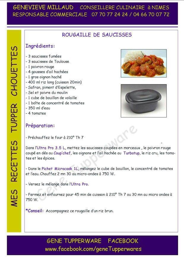 Plat rougaille de saucisse tupperware recettes plats - Plat micro onde tupperware ...