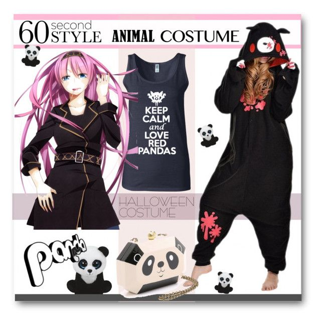 """Panda Power"" by esch103 ❤ liked on Polyvore featuring KURO, Serpui, Halloween, 60secondstyle and animalcostume"