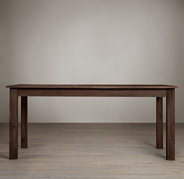RH Drifted Oak Parsonu0027s Extension Tables Extends To