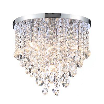 Home collection metal and glass harper flush ceiling light home collection harper crystal glass flush light aloadofball Choice Image