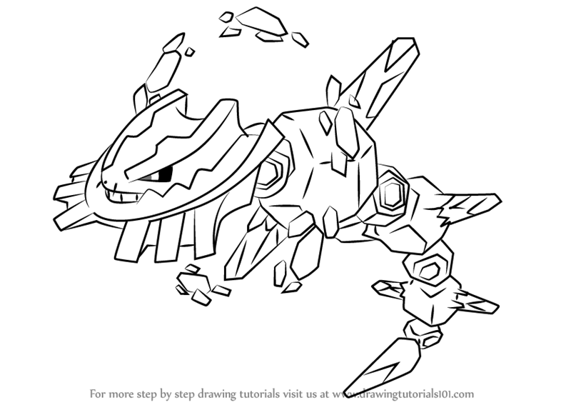 how to draw mega steelix from pokemon