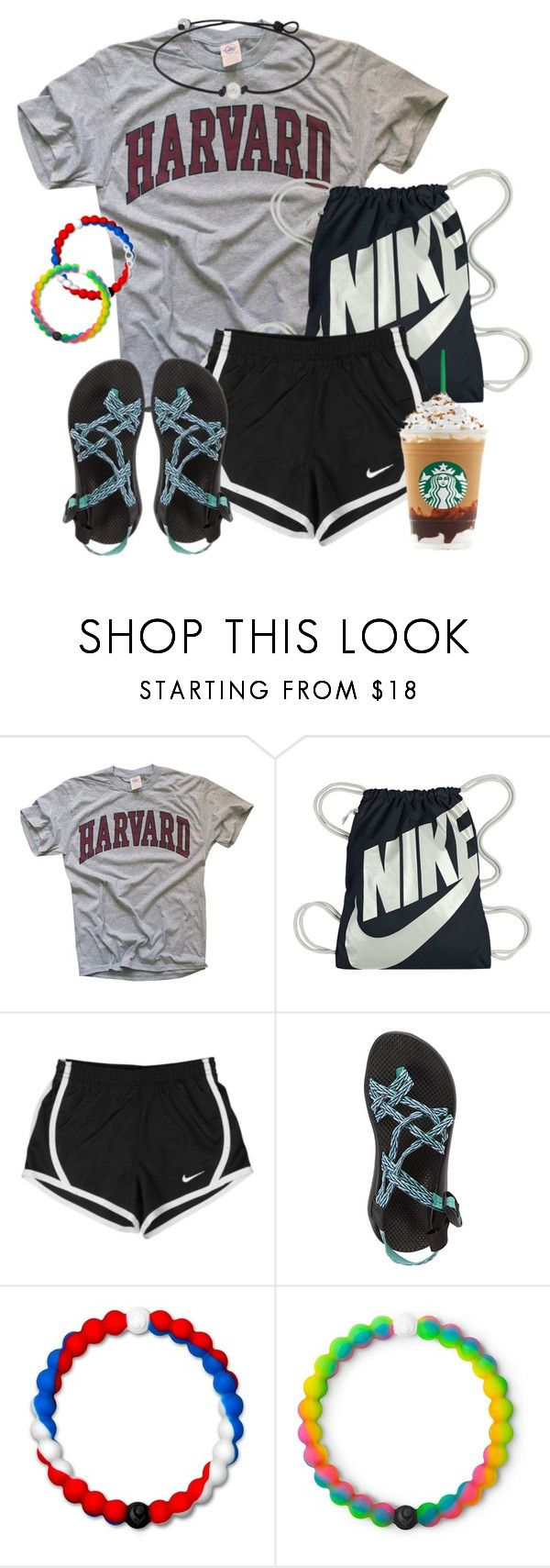 """""""i want to go back to bed"""" by harborseal ❤ liked on Polyvore featuring NIKE, Chaco and Lokai"""