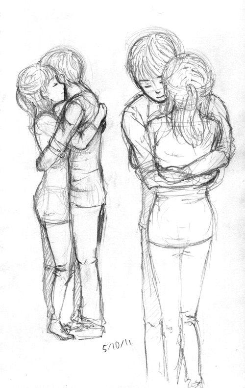 A Hug Art Blasting Art Drawing People Boy And Girl Drawing Hugging Drawing
