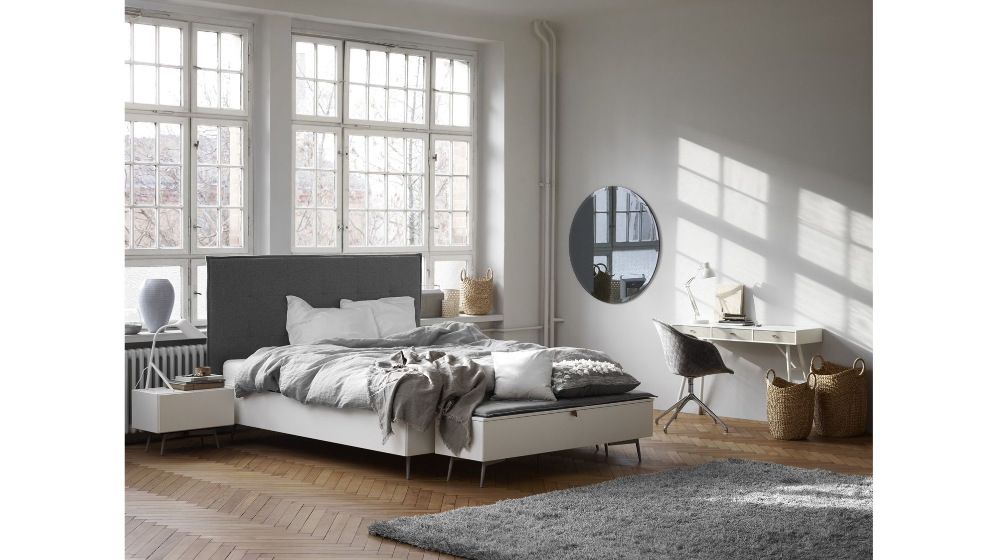 Modern Platform Bed Cherry Mid Century Modern Danish Solid ...