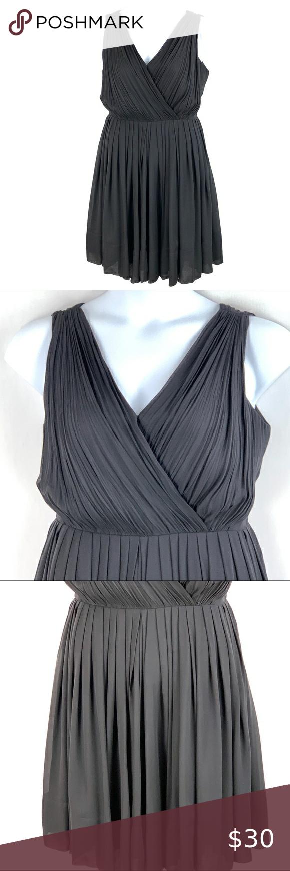 Talbots Black Silk Sleeveless Dress Size 8 Womens Sleeveless Dress Sleeveless Dress Black Silk [ 1740 x 580 Pixel ]