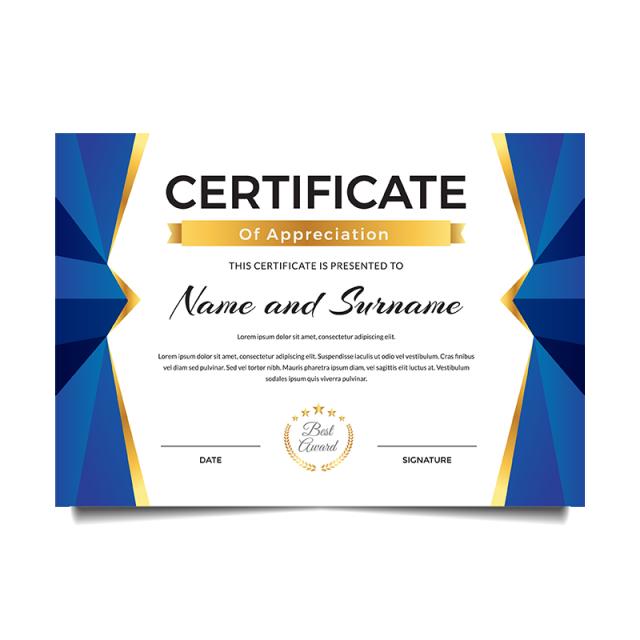 Modern Premium Business Certificate Of Achievement And Appreciation Certificate Layout Certificate Design Template Certificate Of Achievement