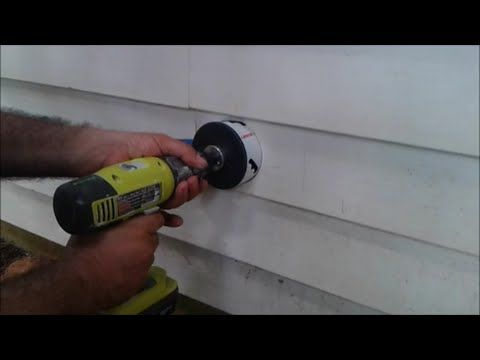 How To Install Dryer Vent And Make A Hole On Vinyl Siding