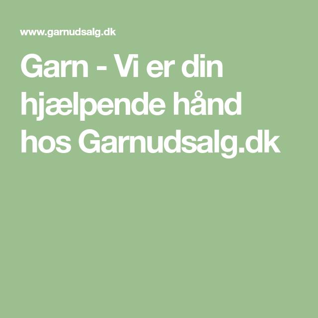 f98b28bbf28 Garn - Vi er din hjælpende hånd hos Garnudsalg.dk | pasta in 2019 ...