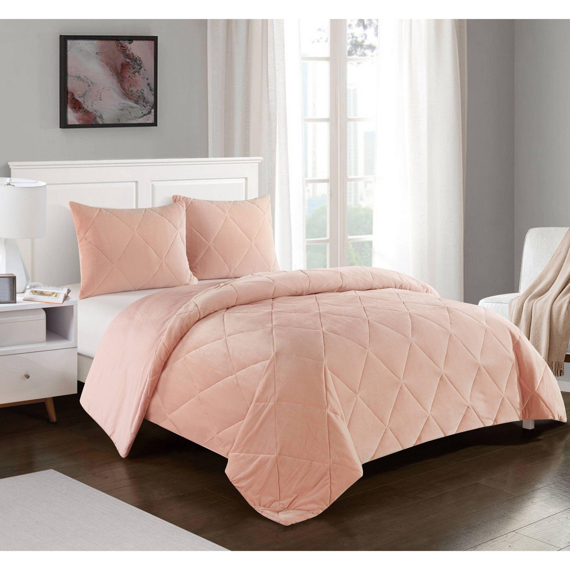 Queen Cloud Fill Comforter Set Pink - Heritage Club