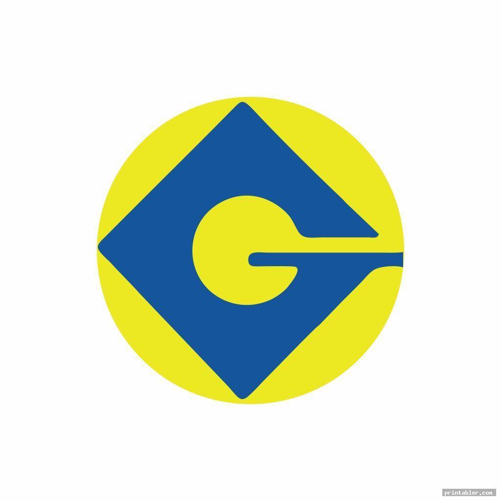 Colorful G Minion Logo Printable Printabler Com In 2020 Minions Logos Printables