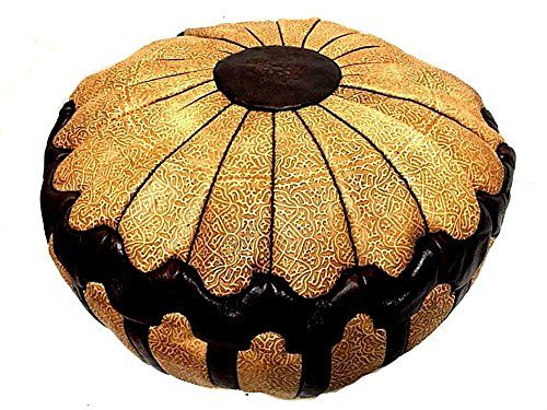 "Moroccan Leather Hassack Round Ottoman Pouf Seat XXL Large Poof Seat 36""Ø (BROWN) Moroccan Furniture Bazaar http://www.amazon.com/dp/B01B8KWECM/ref=cm_sw_r_pi_dp_8p-Qwb00H3MR7"