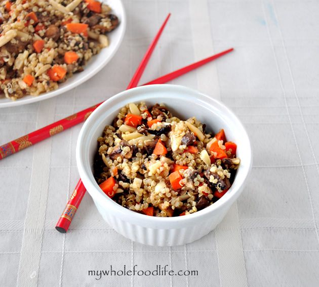 how to make vegetable stir fry with quinoa