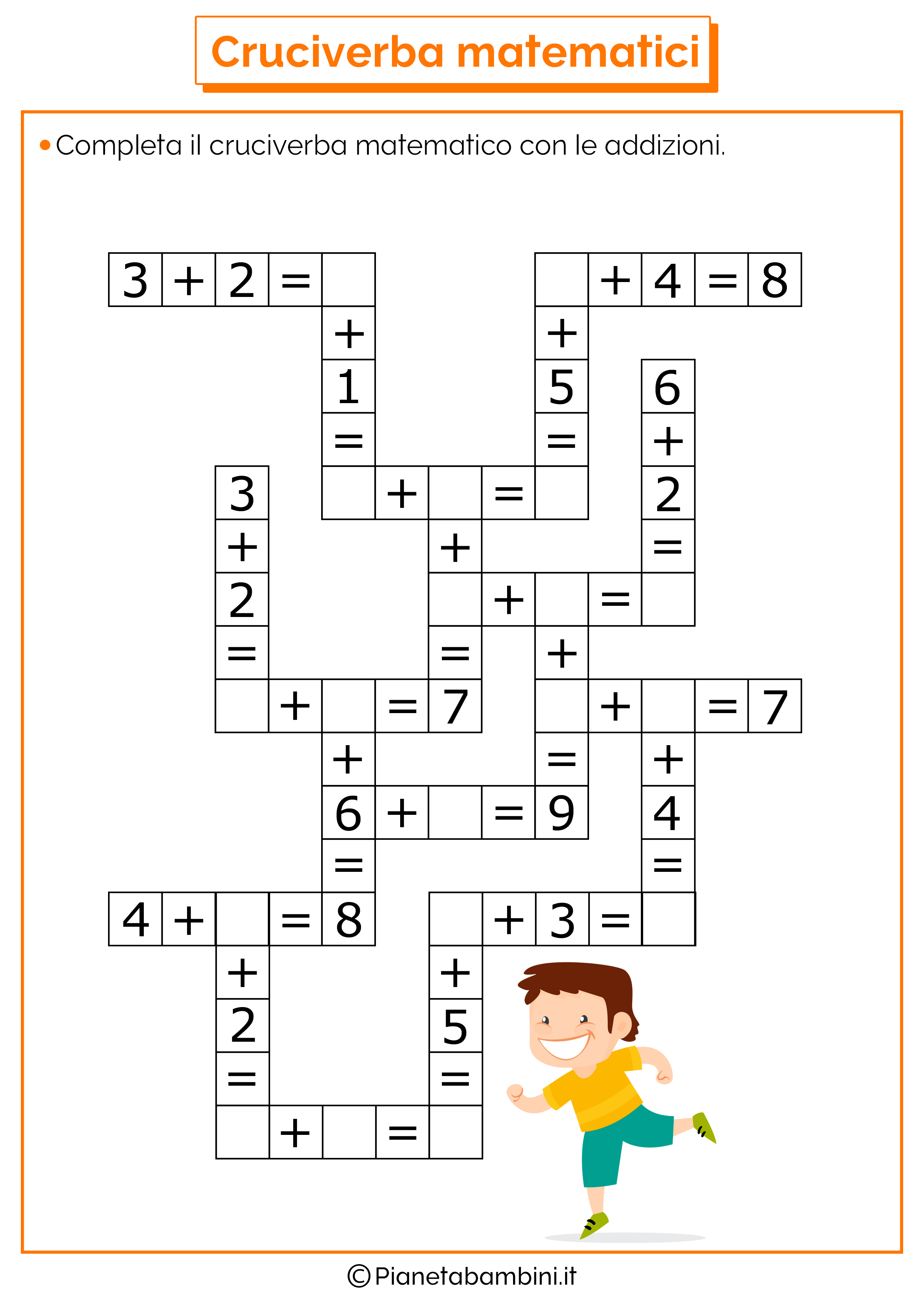 Labirinti Da Stampare Per Bambini 7 Anni Cruciverba Per Bambini