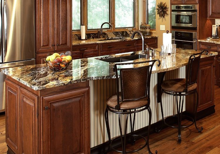 dark kitchen cabinets with gold granite cabinet factory
