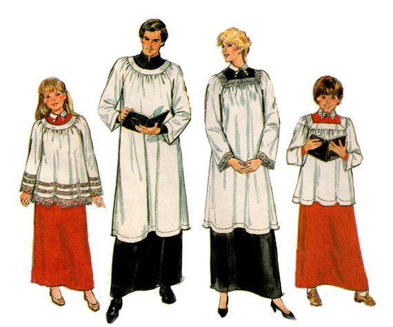 Simplicity 8668 UNISEX Choir Robes Graduation Gown Mens Womens ...