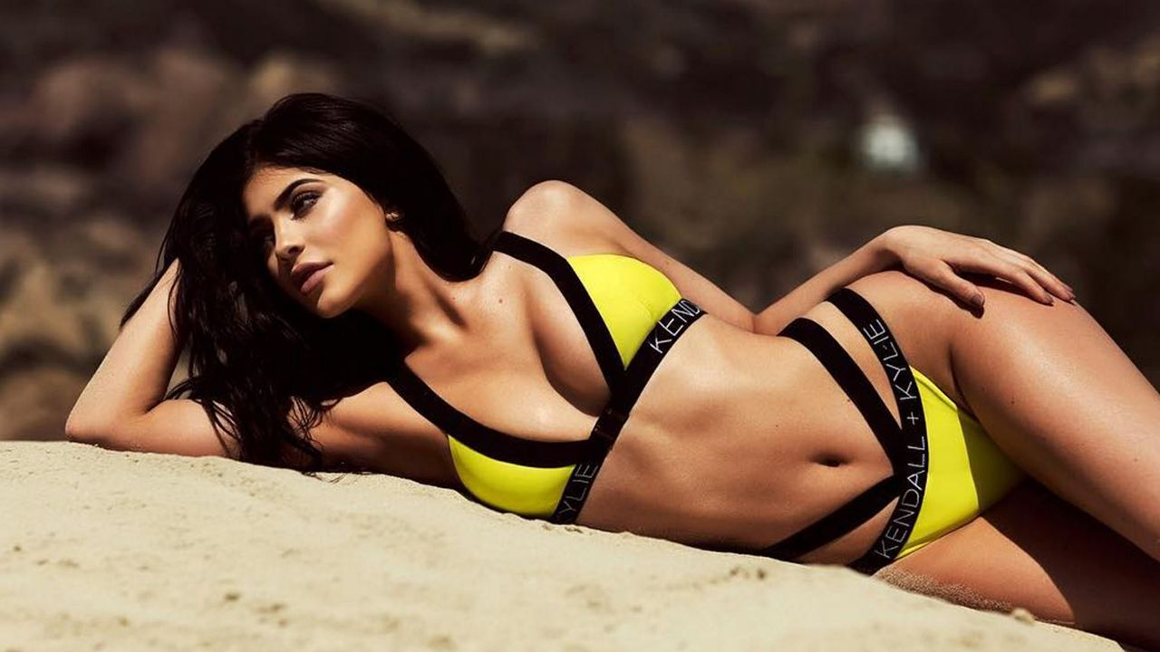20d4d0a659f Kendall and Kylie Jenner Model Their New Swimwear Line in Sexy ...