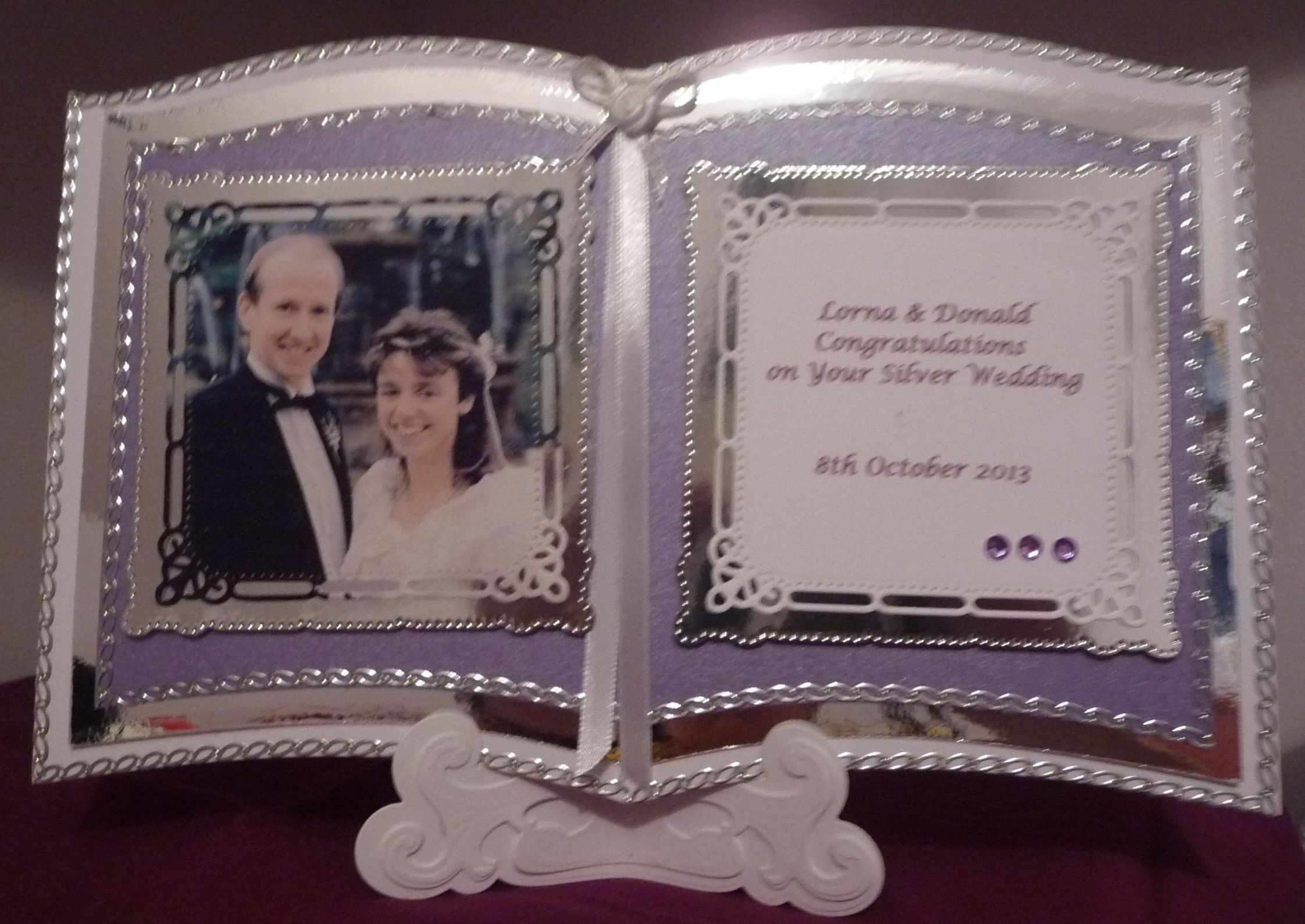 Bookatrix silver wedding card bookatrix and book cards pinterest