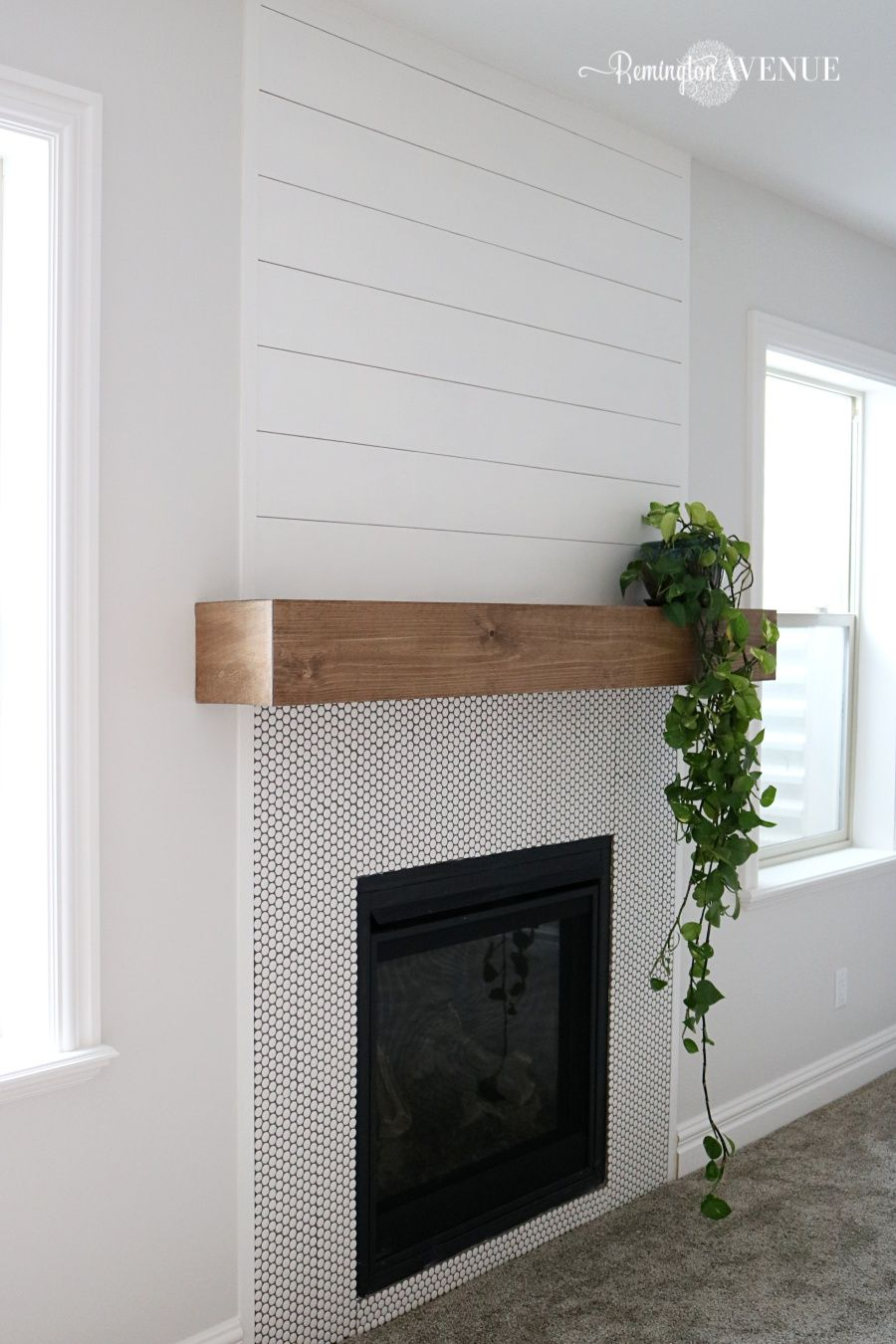 Easy DIY wood mantel Diy fireplace mantel, Home