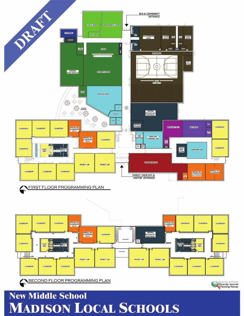 Madison new middle school building layout