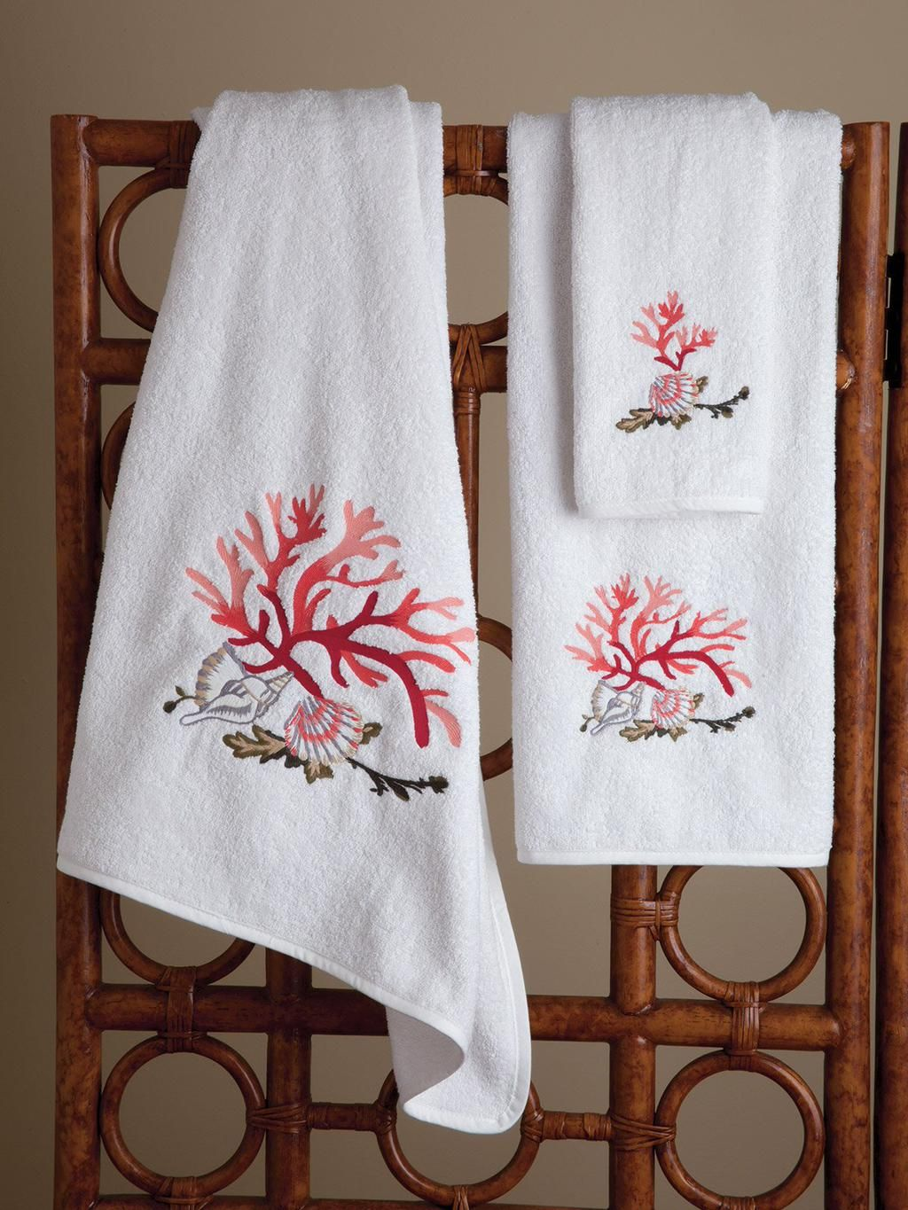 http://schweitzerlinen.com/seascape.html Embroidered coral and seashells bring nature's wonders. #luxury
