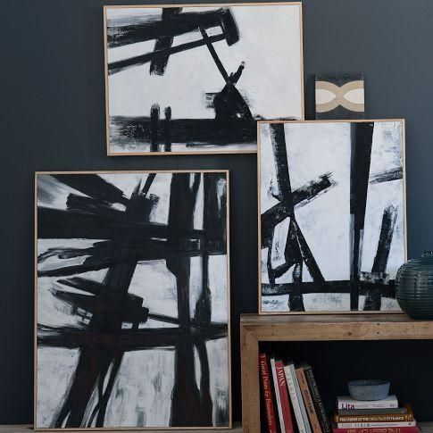 Wall decor · oh sarah o diy west elm abstract painting franz kline knock off