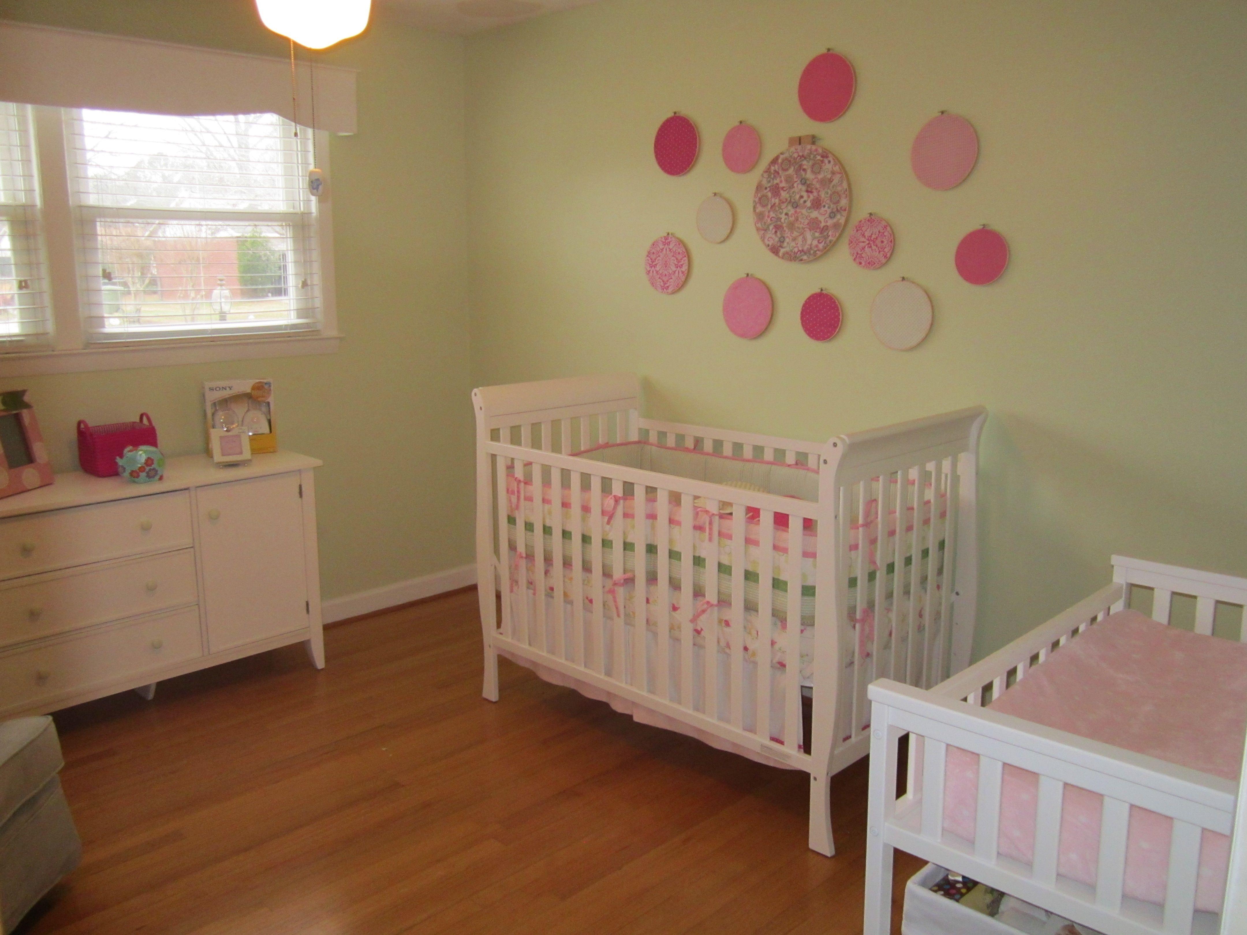 My Baby Girl S Nursery: My Baby Girl's Nursery. Walls Are Valspar Honey Dew. Hoops