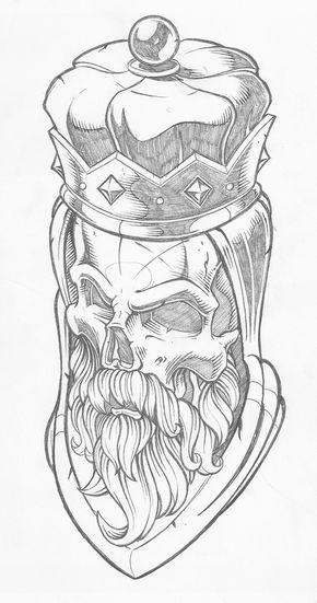 king jpg skulls tattoo world pinterest tattoo gangster drawings and draw