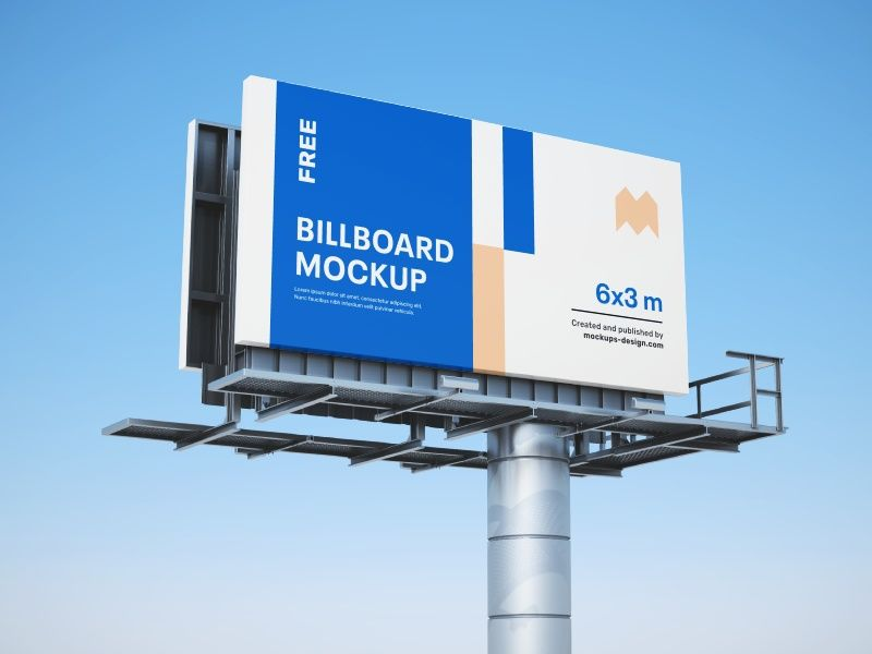 free billboard mockups in